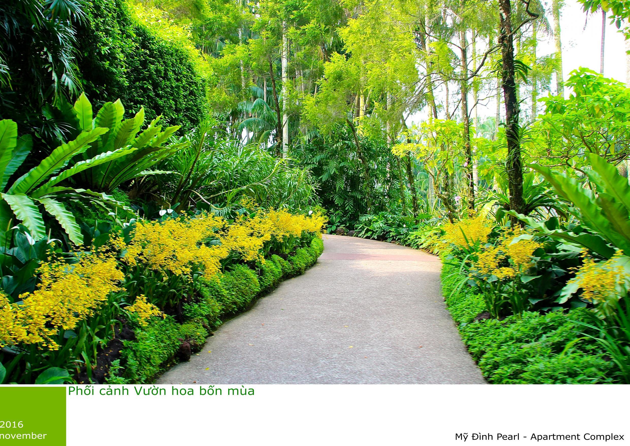 Vườn hoa bốn mùa
